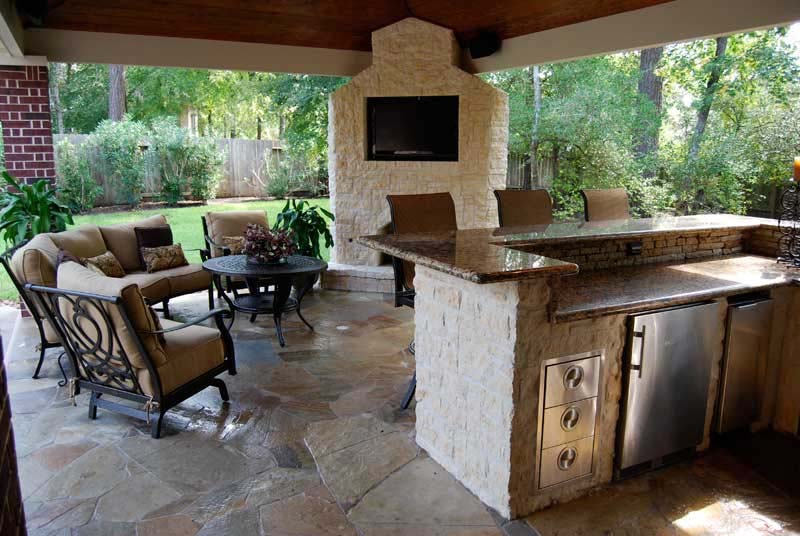 Outdoor kitchens rocks masonry long island masonry for Kitchen designs outside